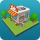 Low Poly Cafe Shop - 3DOcean Item for Sale