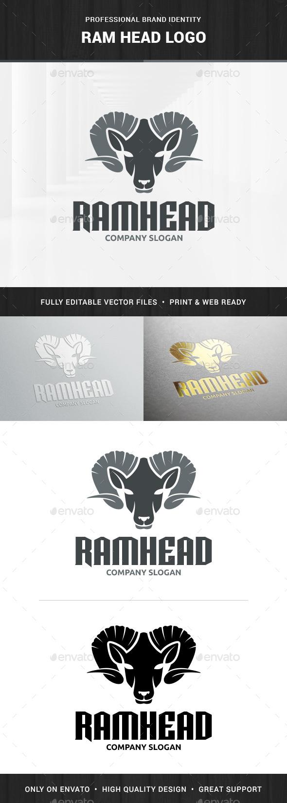 Ram Head Logo Template