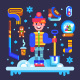 Set of Winter Attributes for Fun and Holidays - GraphicRiver Item for Sale