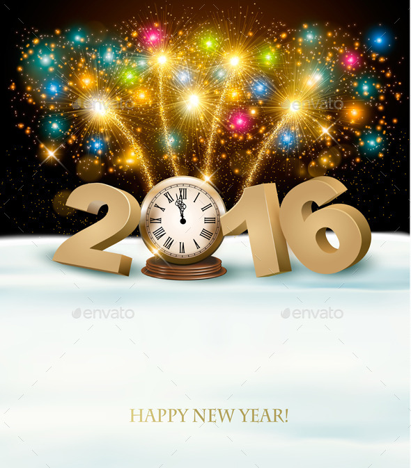 Happy New Year Background With 2016