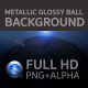 Metallic Glossy Ball Background - VideoHive Item for Sale