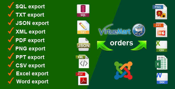Virtuemart Orders Export