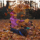 Mom is Playing with  Children with Leaves - VideoHive Item for Sale