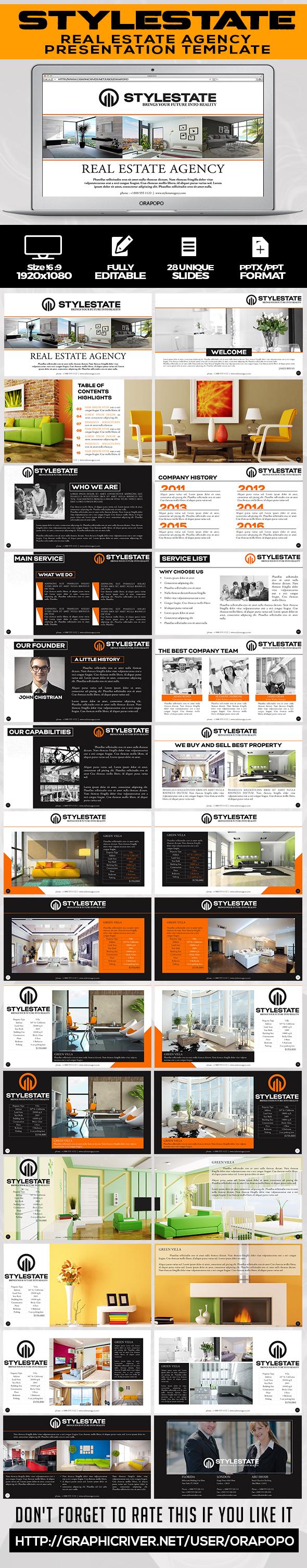 Stylestate | Real Estate Agency Presentation Template