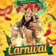 Carnival Mardi Gras Party Flyer Template - GraphicRiver Item for Sale