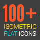 3D Isometric Flat Icons Pack - VideoHive Item for Sale