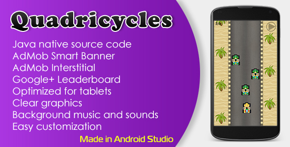 Quadricycles Game with AdMob and Leaderboard Download