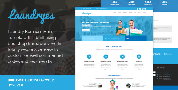 Laundryes - Laundry Business Html Template