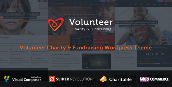 Volunteer - Charity/Fundraising WordPress Theme