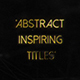 Abstract Inspiring Titles - VideoHive Item for Sale
