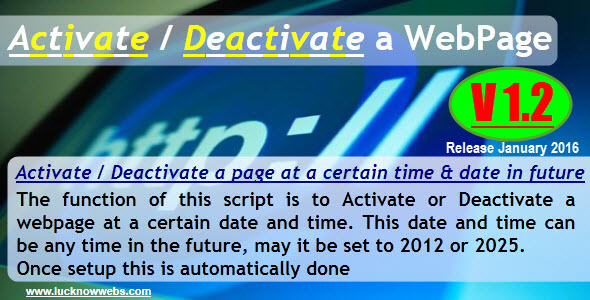Activate/Deactivate a Webpage Download