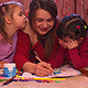Children are Drawing Pictures with Their Mother - VideoHive Item for Sale