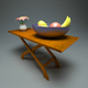 Wooden Coffee Table + Materials - 3DOcean Item for Sale