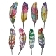 Set Of Isolated Colorful Feathers. Vector, EPS10 - GraphicRiver Item for Sale