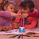 Girls are Coloring the Pictures - VideoHive Item for Sale