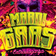 Mardi Gras Extravaganza Flyer Template - GraphicRiver Item for Sale
