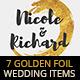 7 Golden Foil Items - Wedding Pack - GraphicRiver Item for Sale
