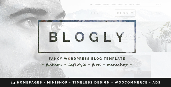 Blogly - Fancy WordPress Blog Theme