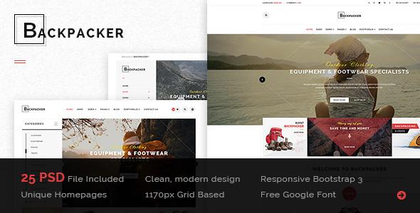 BackPacker - Multipurpose eCommerce PSD Template
