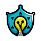 Safety Solutions - Shield Icon with Bulb ( idea )  - GraphicRiver Item for Sale