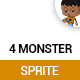 4 Monster Sprite - GraphicRiver Item for Sale