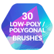 30 Low-Poly / Polygonal Photoshop / Procreate Brushes #3 - GraphicRiver Item for Sale