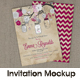 Photorealistic Invitation Card Mock-Up - GraphicRiver Item for Sale