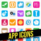 Mobile App Icons - GraphicRiver Item for Sale