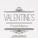 Valentine's Day Food Menu - GraphicRiver Item for Sale