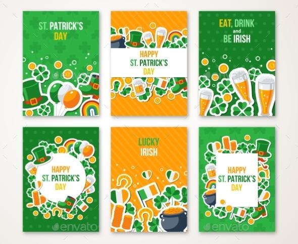 Patricks Day Greeting Cards Set