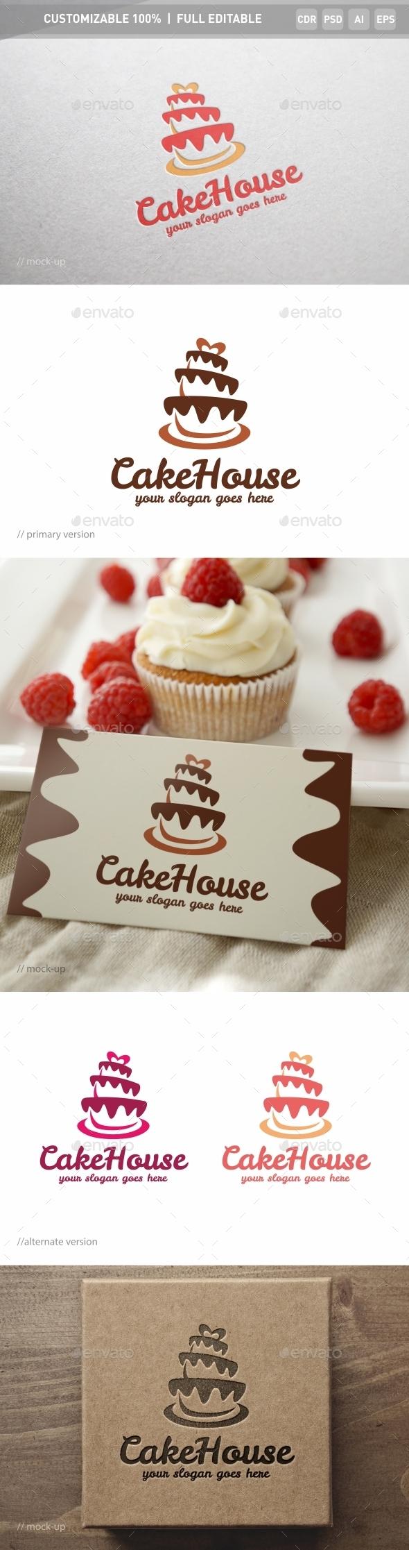 Cake House Logo Template