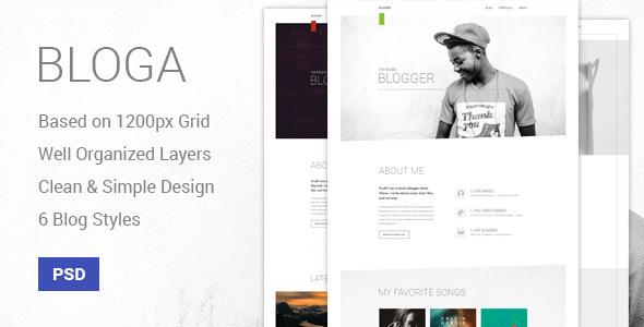 Bloga - Modern Creative Multipurpose Blog Template