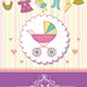 Baby Girl Shower Invitation Card - GraphicRiver Item for Sale