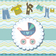 Baby Boy Shower Invitation Card - GraphicRiver Item for Sale