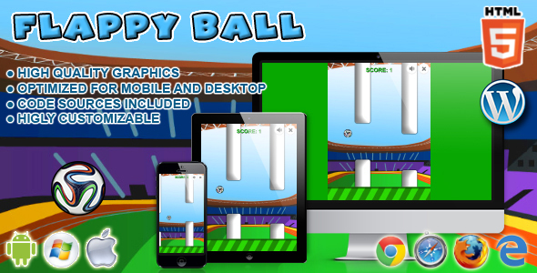 Flappy Ball - HTML5 Game