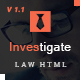 Investigate - Lawyer and Attorney HTML Template - ThemeForest Item for Sale