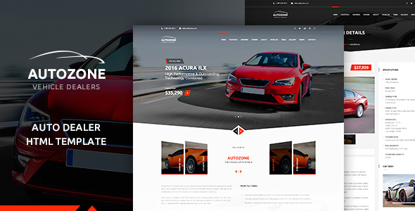 Auto Dealer Html Website Templates From Themeforest
