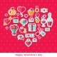 Valentine Background with Flat Elements - GraphicRiver Item for Sale
