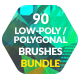 90 Low-Poly / Polygonal Photoshop Brushes Bundle - GraphicRiver Item for Sale