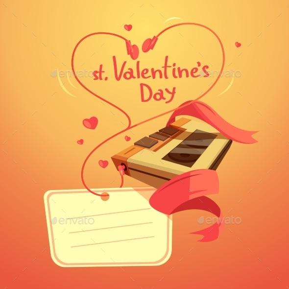 Valentine Day Retro Cartoon