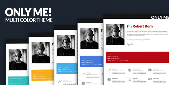 Only Me - Personal & Responsive Template