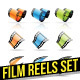 Film Reels Icons - GraphicRiver Item for Sale