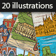 20 Famous Cities Vector Illustrations - GraphicRiver Item for Sale