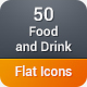 Food and Drink Flat Icons - GraphicRiver Item for Sale