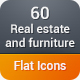 Real Estate and Furniture Flat Icons - GraphicRiver Item for Sale