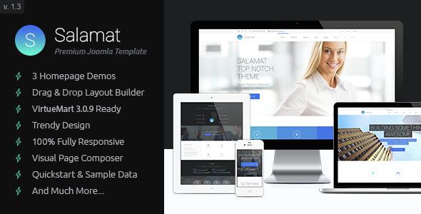 Salamat - Multipurpose Business Joomla Template
