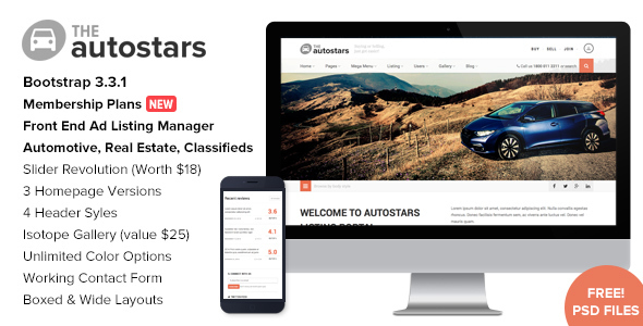 Auto Stars - Car Dealership and Listings WP Theme