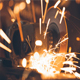 Metal Sawing With Sparks - VideoHive Item for Sale
