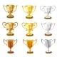 Vector Trophy Set. - GraphicRiver Item for Sale