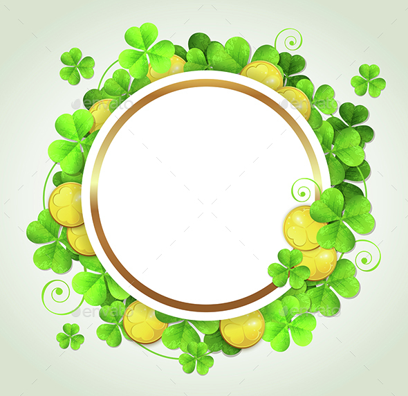 Clover Leaves and Golden Coins
